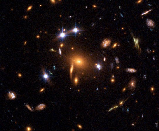 Quasar in gravitational lens.jpg