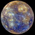 Mercury MDIS global enhanced color map rot 140 globe bright sm.png